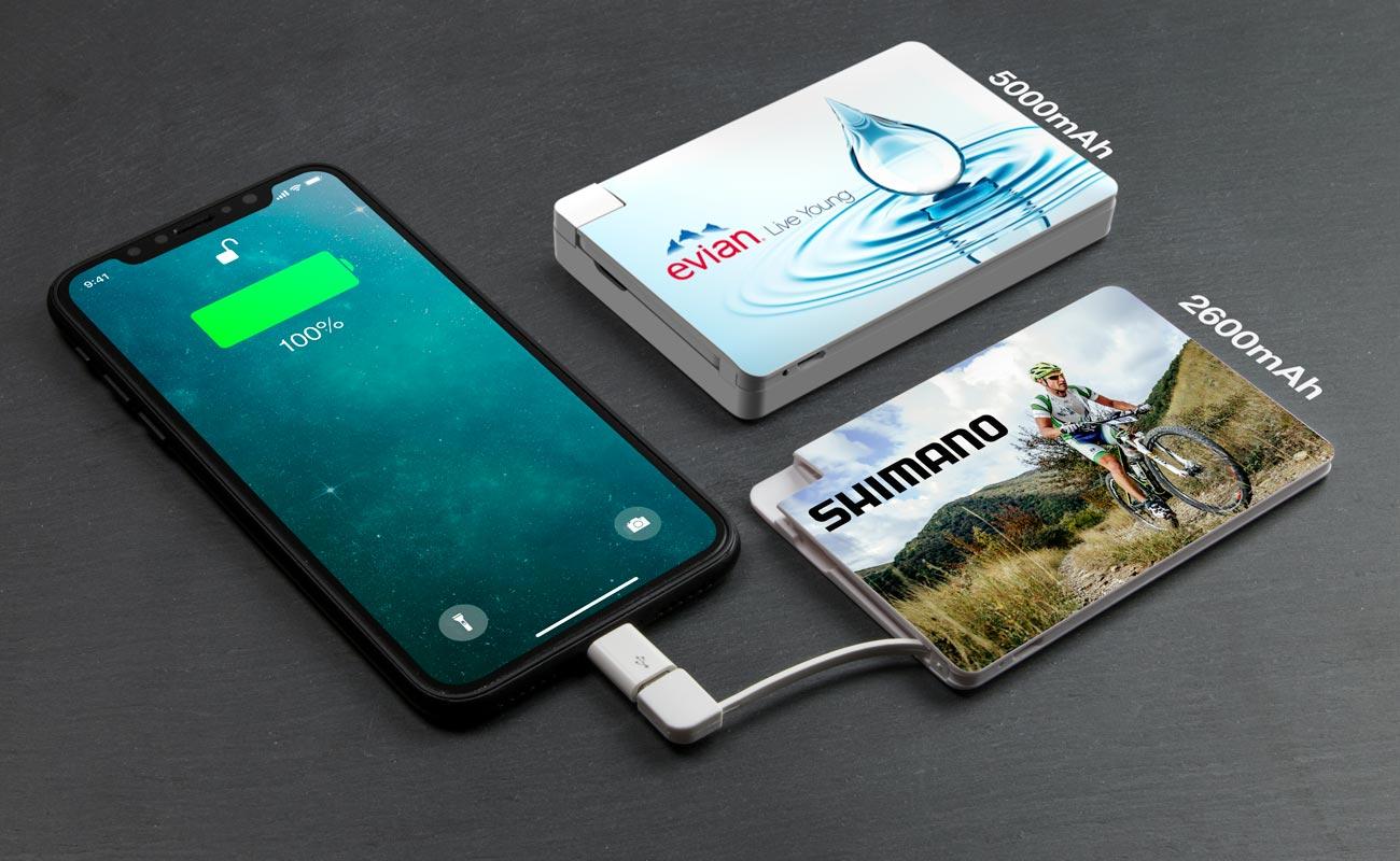 Card - Batterie Externe Personnalisée