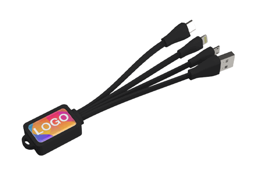 Multi - Set de câbles de recharge USB Octopus marqué