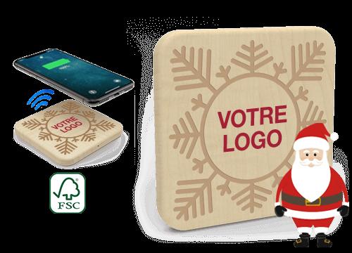 Forest Christmas - Chargeur Sans Fil Personnalisable Pas Cher