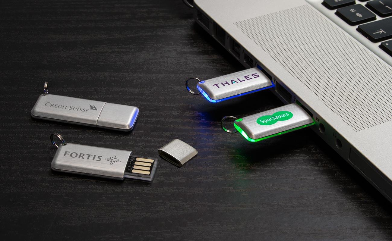 Halo - Clé USB customisable avec LED